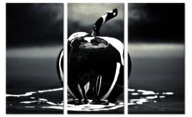 Canvas doek Zwarte Appel