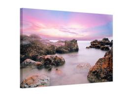 Pastel kust: foto schilderij
