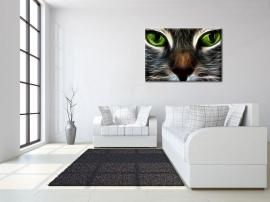 Modern Schilderij Neon Kat