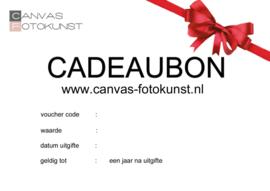 Cadeaubon Canvas Fotokunst