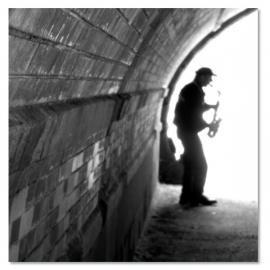 Saxofoon speler New York