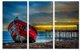 Schilderij Boot op het Strand