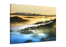 Canvas schilderij Mountain mist