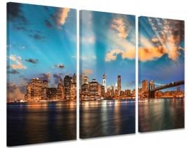 Zonsondergang Skyline New York