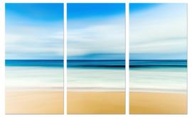 Schilderachtig strand : canvas schilderij