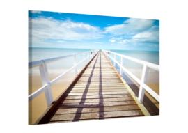Pier: foto schilderij op canvas