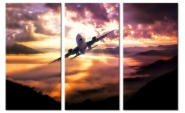 Vliegtuig Canvas Schilderij