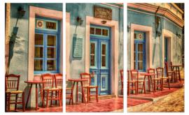 Grieks café:  foto schilderij