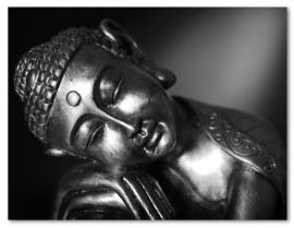 Painted Silver Buddha