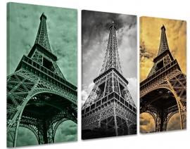 Drieluik canvas Eiffeltoren