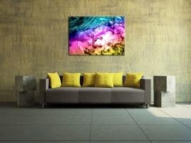 Schilderij Gekleurde Druppels