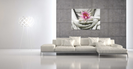 Lotus bloem boeddha canvas