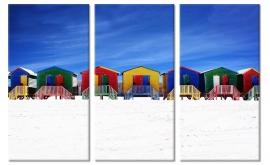 Foto Schilderij Strandhuisjes