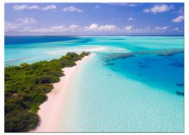 Malediven : foto schilderij op canvas