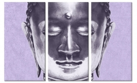 Canvasdoek Purple Buddha