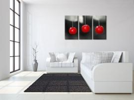 Drieluik Canvas Art  Rode Bessen