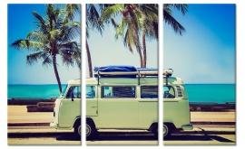Schilderij VW Busje