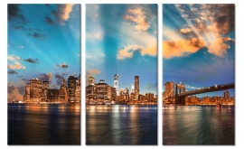 Zonsondergang Skyline New York