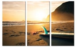 Art Print Surfplank op het Strand