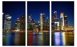 Schilderij Singapore op canvas