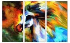 Abstracte art print Paard