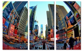 Art Print Times Square Fisheye