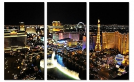 Schilderij Las Vegas by Night