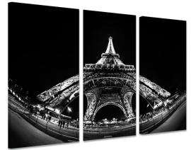 Zwart Wit Schilderij Eiffeltoren