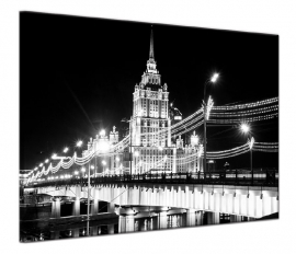 Schilderij Moskou Zwart Wit