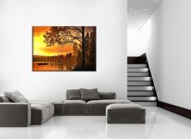Schilderij Herfst aan het Meer