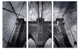 Drieluik Canvas Brooklyn Bridge