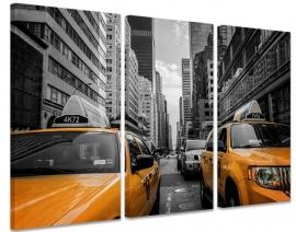 Canvas Drieluik Gele Taxi