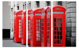 Foto Schilderij Rode Telefooncellen