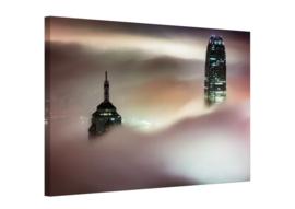 Skyscraper Hong Kong: canvas schilderij