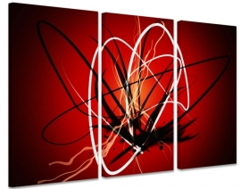 Abstract Design Red