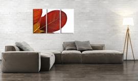 Wanddecoratie Rood Blad