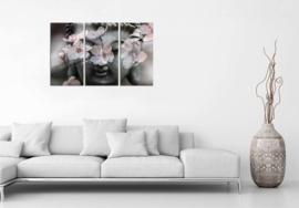 Cherry Blossom Buddha op canvas