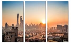 Foto Schilderij Shanghai Skyline