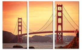 Golden Gate Bridge II op canvas