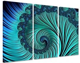 Turquoise Tunnel Schilderij