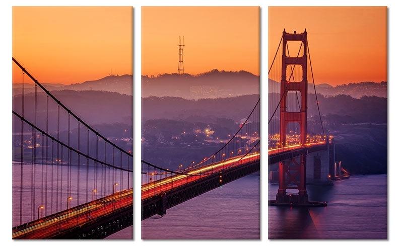 Schilderij Golden Gate Bridge Zonsondergang