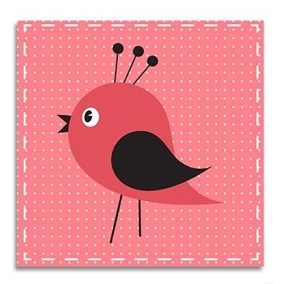 Vogel roze