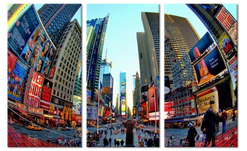 Art Print Times Square Fisheye