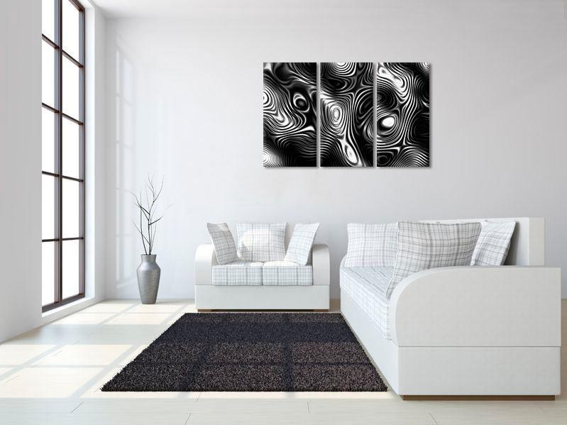 Super Abstract Design Zwart Wit   Moderne canvas schilderijen   Canvas JE-11