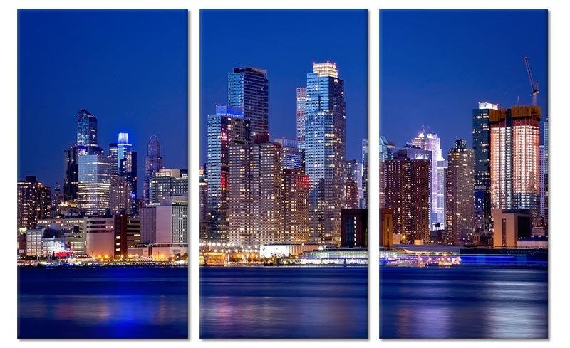 Stadsgezicht New York op canvas