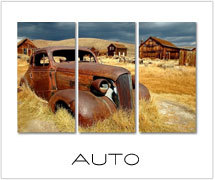 auto schilderijen drieluik