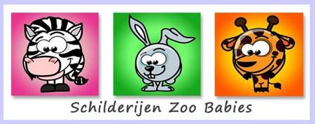 babykamer schilderijtjes zoo babies