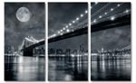 new york 3-luik canvas schilderij