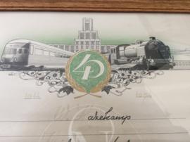 W Hazekamp, 40 jarig dienstvervulling N.V. Nederlandse Spoorwegen