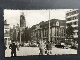 Rotterdam, Coolsingel met stadhuis en postkantoor (1958)